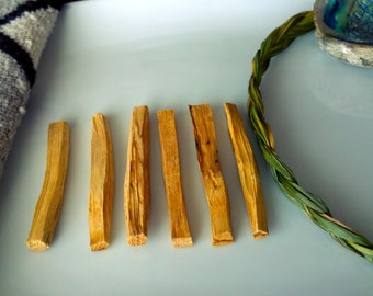 6 sticks Palo Santo Holy Wood Purify Incense smudge Holy stick
