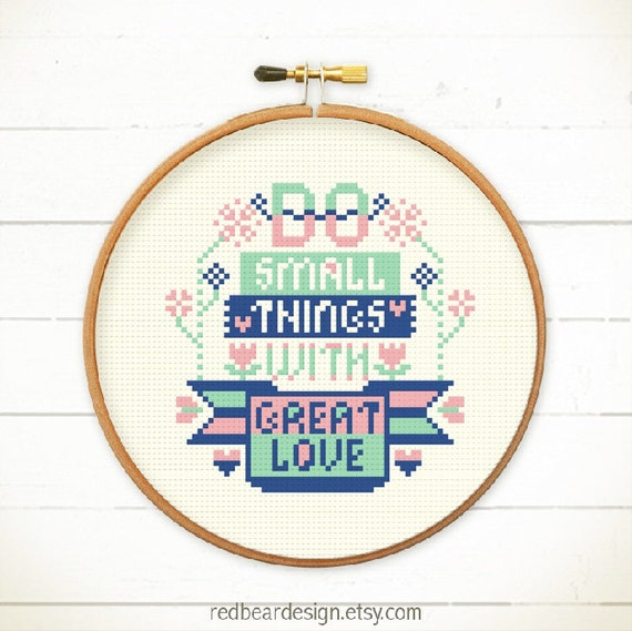 Quote cross stitchs patterns modern embroidery easy