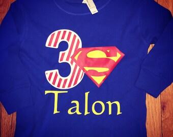 Superman birthday shirt short sleeve!