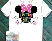 Minnie Birthday Girl Iron-on Transfer