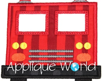 Firetruck Front Applique Embroidery