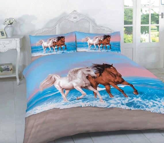 pferde bettw sche gedruckt 3d hd steppdecke bettdecke. Black Bedroom Furniture Sets. Home Design Ideas