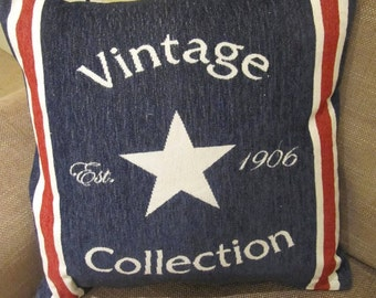 Vintage feather cushion