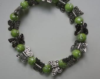 green butterflies bracelet