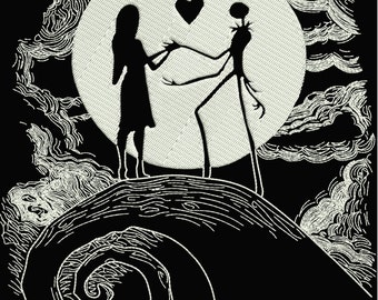 INSTANT DOWNLOAD Machine Embroidery Designs. Jack&Sally. The Nightmare Before Christmas.