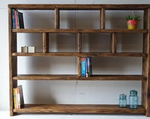 Rustic Bookcase Shelving Unit 100% Reclaimed Recycled Wood, Eco, Any Size, Made to Measure FREE DELIVERY