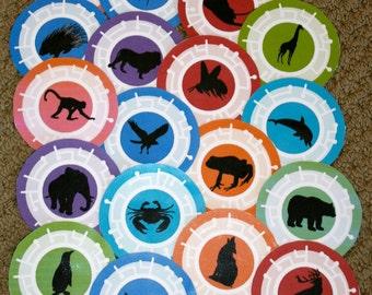 Set of 5 animal cards