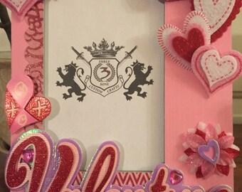 Custom You and Me Valentine Frame