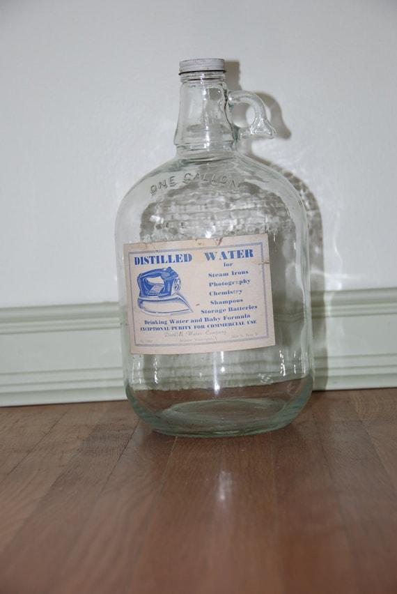 5 Gallon Water Distiller ~ Old glass one gallon distilled water jug vintage