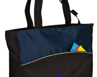Personalized Swim Blueprint Blue/Black Tote with FREE Personalization & FREE SHIPPING    B1510