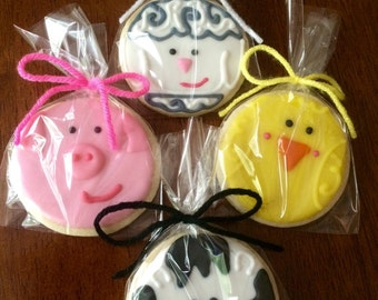Farm Animal Cookies - perfect party cookies!