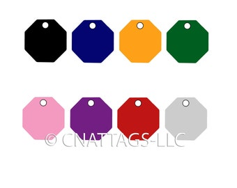 Personalized Engraved Hexagon Shape Pet Tag Pet id tag dog tag cat by CNATTAGS