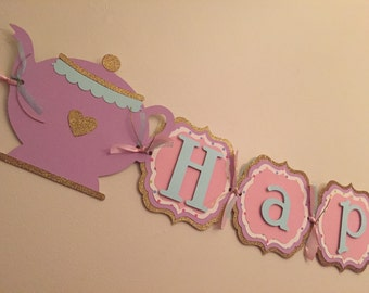 Tea Party Birthday Banner!!