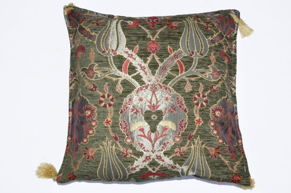 Chenille pillow fine Turkish Kilim Rug Pillow  by