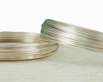 1 foot/10feet 22gauge 925 Sterling Silver Wire, ROUND, Dead Soft, Made in US -WC0141