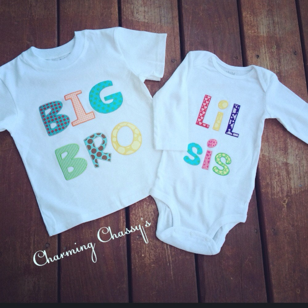 Big brother little sister matching shirts by CharmingChassys