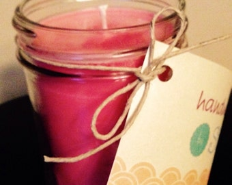 100% Soy Candles in Mason Jars