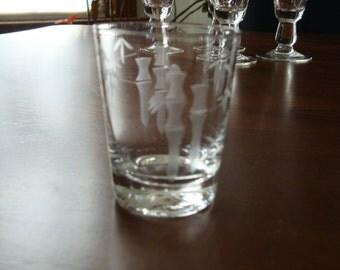 Sasaki Bamboo Mid Century Shot Glass!