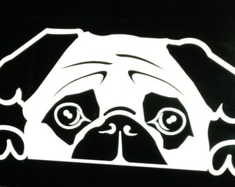 The Chester 2.0 (pug) Window decal