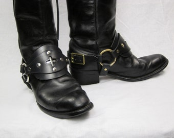 "Pirate leather boot straps  ""steampunk"""