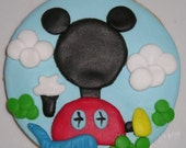 12 Mickey Mouse Disney Clubhouse Cookies, Gourmet Sugar Cookies, Kids Birthday Parties, baked goods