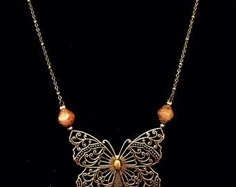Bronze Butterfly necklace