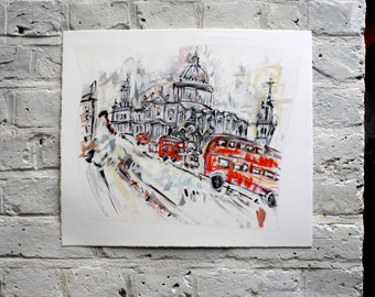 St Paul's Cathedral and the London Bus