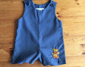 FREE SHIPPING Vintage Baby Boy Romper Playsuit Onesie Size 9 to 12 Months