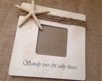 Sandy toes and salty kisses- Beach frame