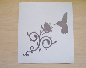 Hummingbird decal, car decal, laptop decal, wall decal
