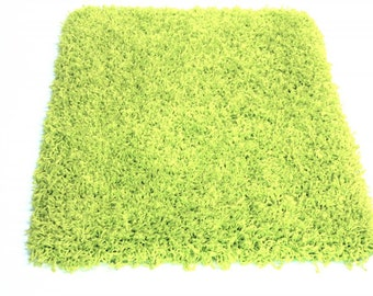 "COLOSSAL Candy Shag by KANE 1-1/2"" Thick Green Apple Carpet Area Rug"