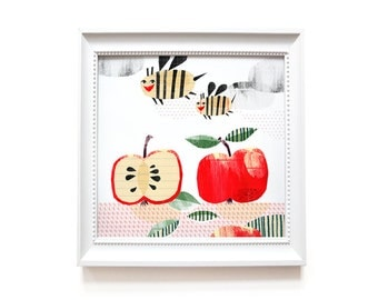 Art print | Apple bees