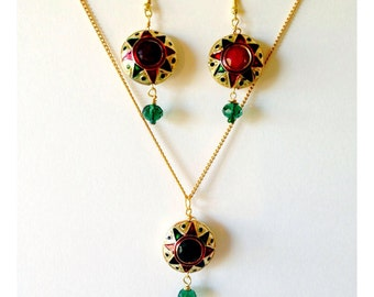 Jaipur Jewels Necklace & Earrings Set