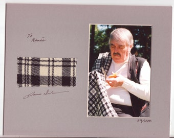 Actual piece of Kilt worn by James Doohan SCOTTY Signed Star Trek autograph Certificate of Authenticity 89/1000 Worn in The Savage Curtain