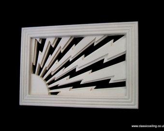 ART DECO STYLE vent  cover  (sunstorm 9x6 or 6x6)