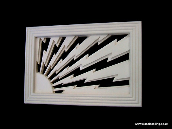 Art Deco Style Vent Cover Sunstorm 9x6 Or 6x6