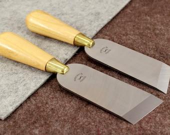 Angular Skiving/Paring Knife Vergez Blanchard/Leather Cutting Tool/Edge Skiver/Leather Craft Tools/Leather Paring Knife/Saddlers Knife