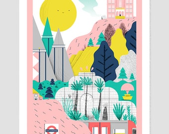 Kew Gardens London giclee | fine art print