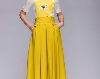Yellow skirt | Etsy