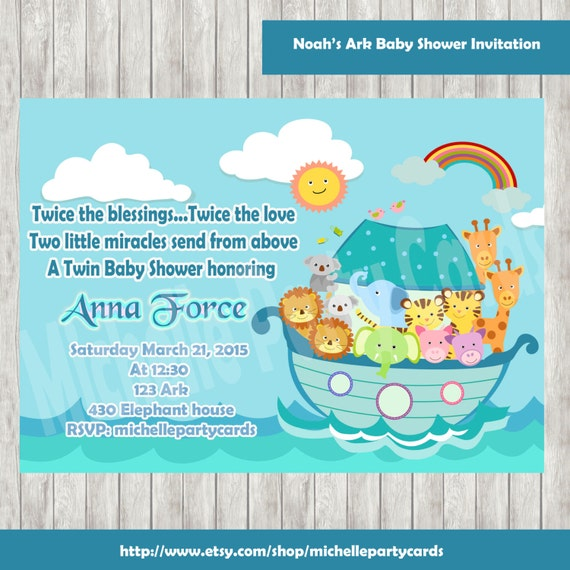Noah39;s Ark Baby Shower InvitationNoah39;s Ark Birthday Party