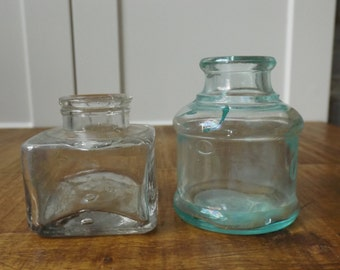 Two beautiful antique ink bottles
