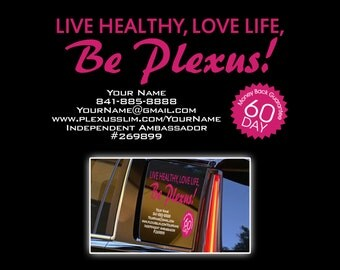 "Side Window Plexus Personalized Custom Decal 23""x15"" (Glossy)  20276312152014AO"