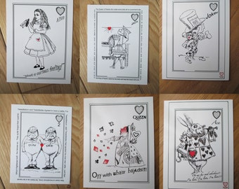 Alice in Wonderland Postcards