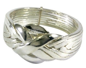 Puzzle ring in 925 Sterling silver, 8 bands