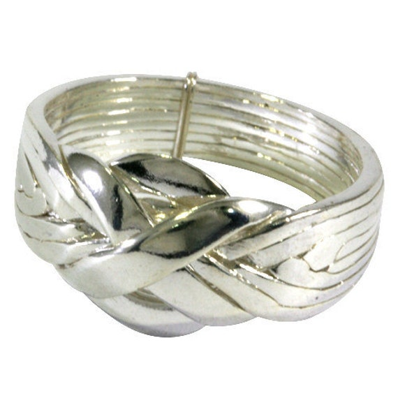puzzle ring in 925 sterling silver 8 bands