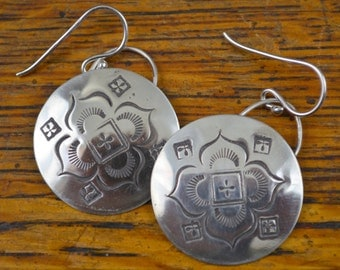 Earrings with Stamped Design