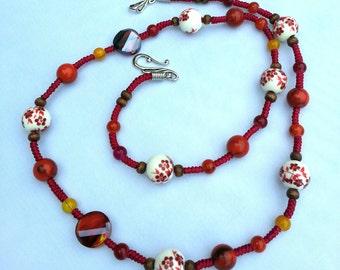 Handmade oriental necklace