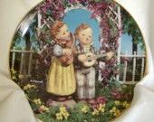 "Vintage M.J. Hummel Collectible Plate ""Little Musicians"" from the Danbury Mint"