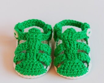 CROCHET PATTERN - Crochet Baby Booties Strap Sandals - Baby Shoes - PDF