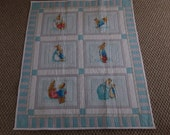 Flannel Beatrix Potter Baby Quilt